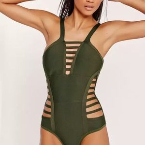 NWT Missguided strappy bandage swimsuit